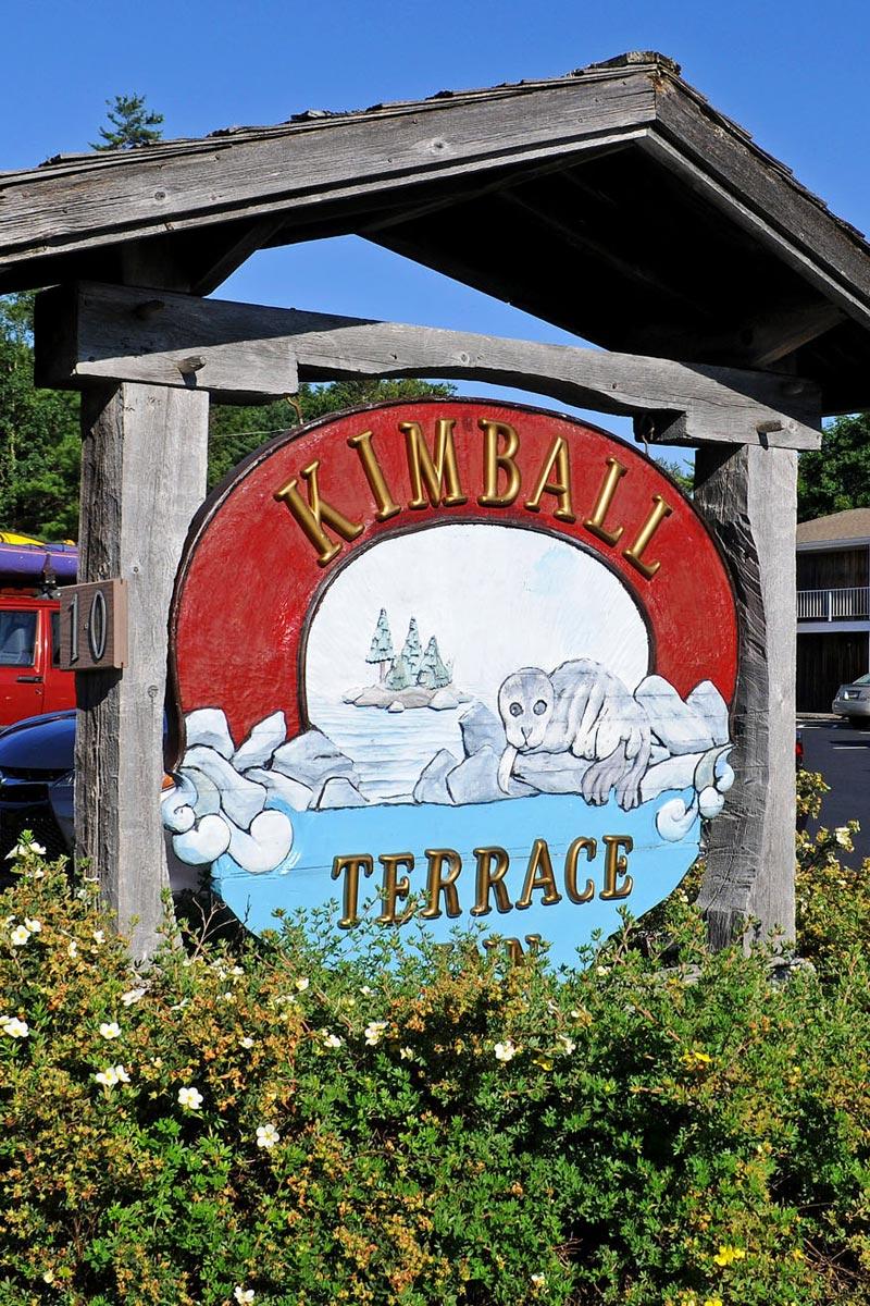 Kimball Terrace Inn sign, Northeast Harbor, Maine
